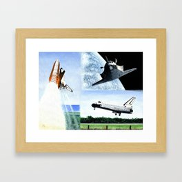 Magnificent flying machine Framed Art Print