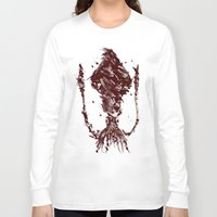 squid Long Sleeve T-shirts featuring Squid by Bearded Hunter