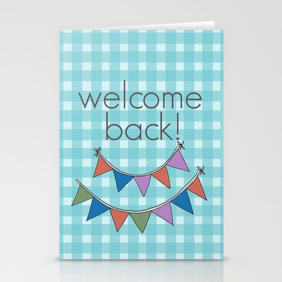 Welcome back! Stationery Cards