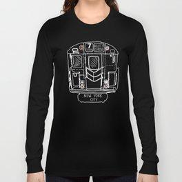 New York City Subway Train Vintage graphic Long Sleeve T-shirt