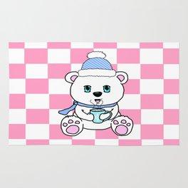 Polar Bear Drinking Hot Chocolate Rug