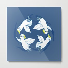 Cockatoo Angels (Blue) Metal Print