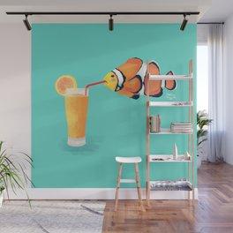 The Clown Fish Drinks Wall Mural