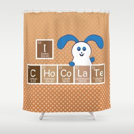 Ernest | Likes Chocolate Shower Curtain