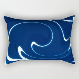 Dark Blue Abstraction Rectangular Pillow