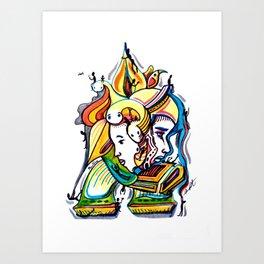 Colorful artwork by Armando Renteria Art Print