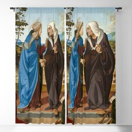 Piero di Cosimo - The Visitation with Saint Nicholas and Saint Anthony Abbot Blackout Curtain