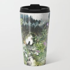 Cat in the Garden of Your Mind Metal Travel Mug