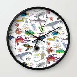 Under the Sea Alphabet Wall Clock