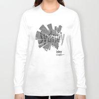 sydney Long Sleeve T-shirts featuring Sydney by Shirt Urbanization