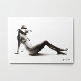 Nude Woman Charcoal Study 52 Metal Print
