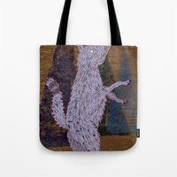 coyote Tote Bags featuring COYOTE by Kevin Whipple