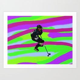 Taking Control- Ice Hockey Player & Puck Art Print