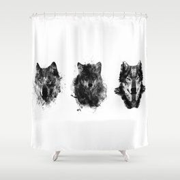 The Wolfpack Shower Curtain