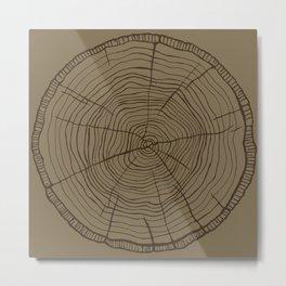 Tree rings brown Metal Print