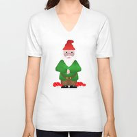 gnome V-neck T-shirts featuring Gnome by lescapricesdefilles