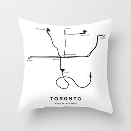 Music in your veins Throw Pillow