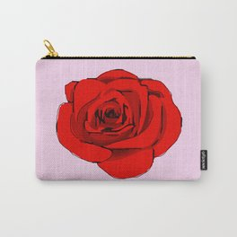 Red Rose (pink) Carry-All Pouch