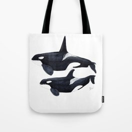 Orca male and female Tote Bag