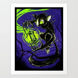 Spectral Aye-Aye Art Print