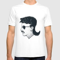 The Mullet White X-LARGE Mens Fitted Tee