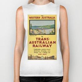 Vintage poster - Western Australia Biker Tank