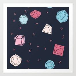 Dice rolling Art Print