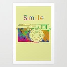Smile on the Camera Art Print