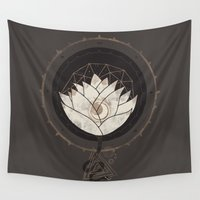 lotus flower Wall Tapestries featuring Lotus by Hector Mansilla