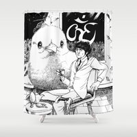 ohm Shower Curtains featuring Harri. by Samuel Guerrero