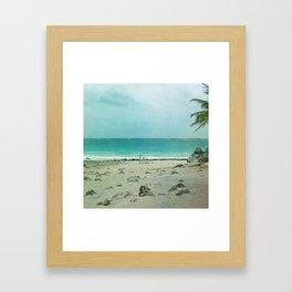 Tulum Ombre Framed Art Print