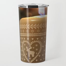 Christmas candle vertical Travel Mug