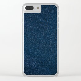 Navy fibrous texture abstract Clear iPhone Case
