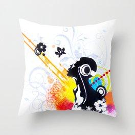 Feel Music Throw Pillow