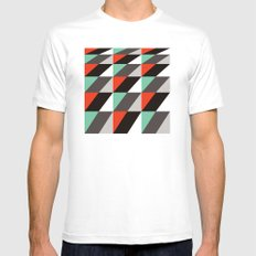 Falling squares Mens Fitted Tee MEDIUM White