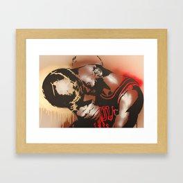 M J Framed Art Print
