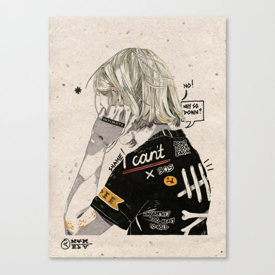 Heavy Thoughts. Canvas Print