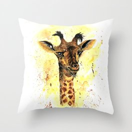Hello From Above Throw Pillow