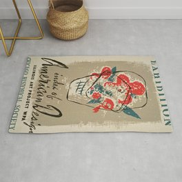 Vintage American design Exhibition poster Rug