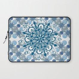 Blue Rhapsody Patterned Mandalas Laptop Sleeve