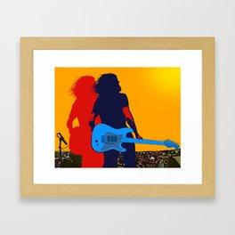 SilhouRock ... Bringing interpretation of musicians through movement, harmony and color      Framed Art Print