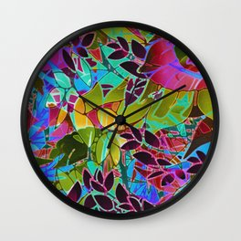 Floral Abstract Artwork G544 Wall Clock