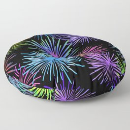 Colorful Fireworks Graphic pattern Design Floor Pillow