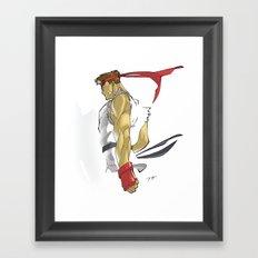 The Street Fighter Framed Art Print