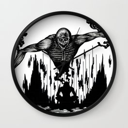 The Monster Within Wall Clock