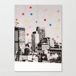 citydots Canvas Print