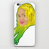 jamaica iPhone & iPod Skins featuring Jamaica Girl by Theophilus Marks
