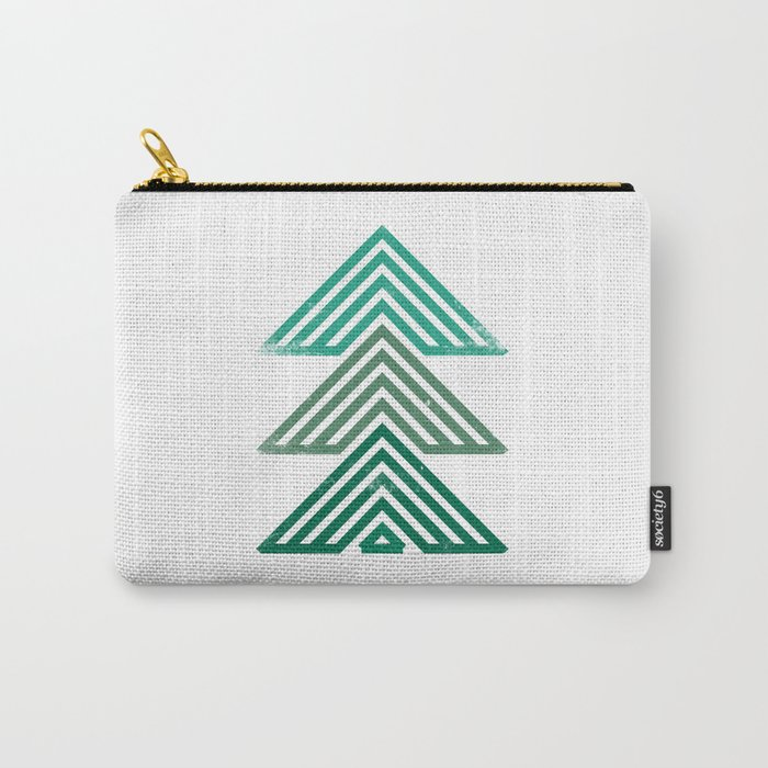Mountain trees vintage Carry-All Pouch