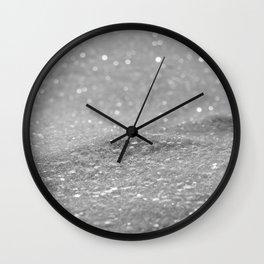 Glitter Silver Wall Clock