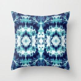 Celestial Nouveau Tie-Dye Throw Pillow